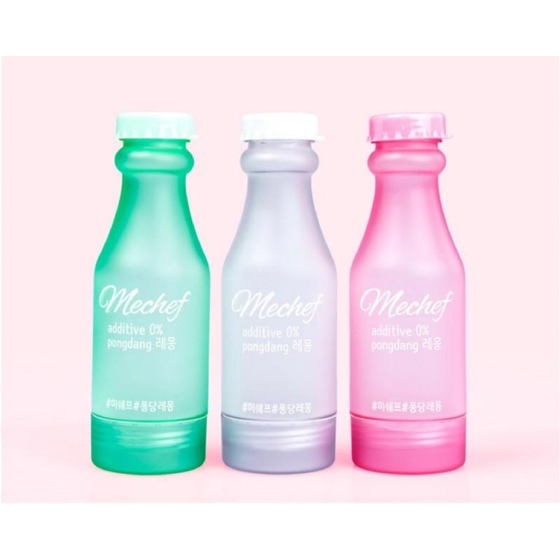 ~米抹小姐~健康 ~Mechef BPA FREE 雙開蓋果漾矽膠水瓶500ml 三色