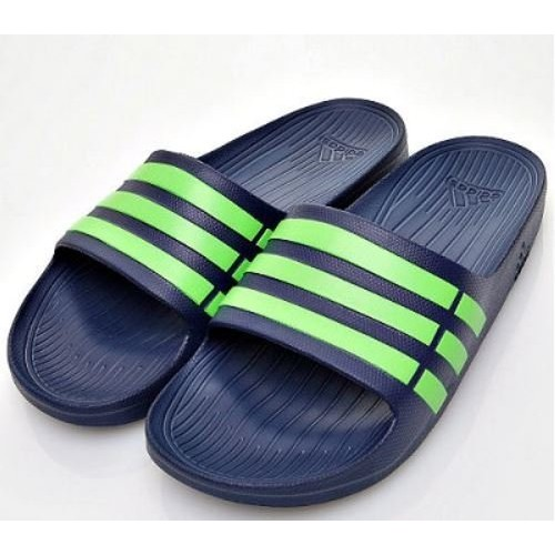 Adidas Duramo Slide 男女 款休閒拖鞋深藍螢光G95489