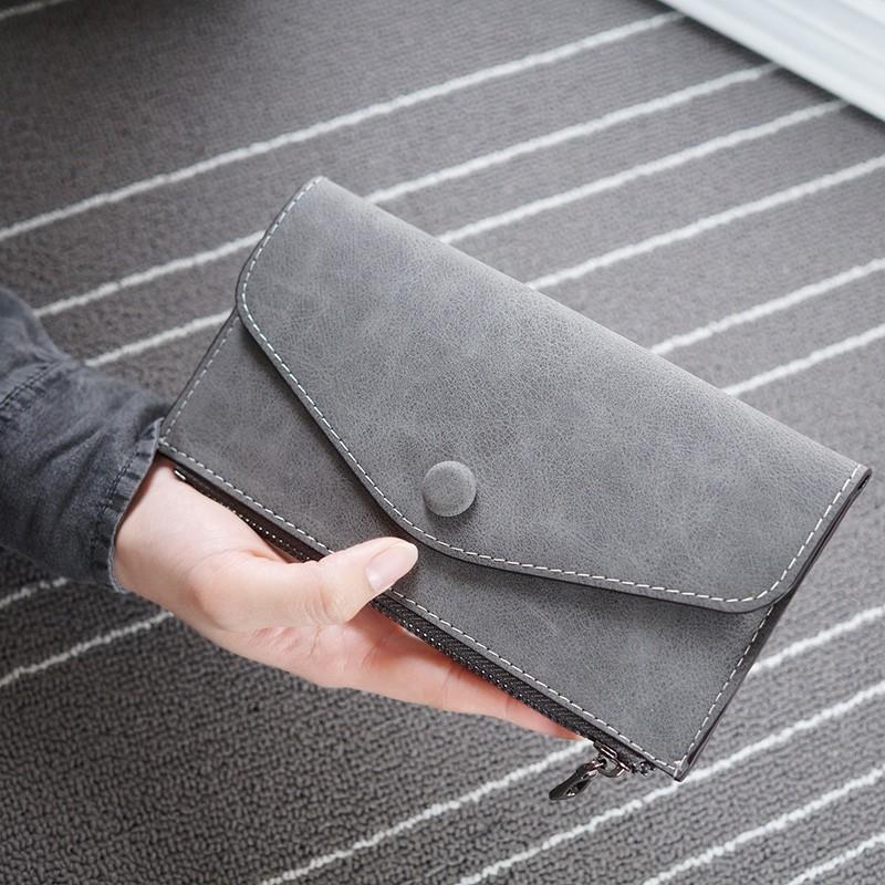 迷你小錢包女拉鍊長款學生錢夾可愛零錢包兩折短款皮夾卡包