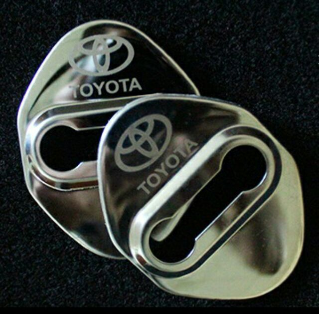 Toyota 門鎖扣門扣蓋保護蓋金屬NEW RAV4 VIOS ALTIS CAMRY Y