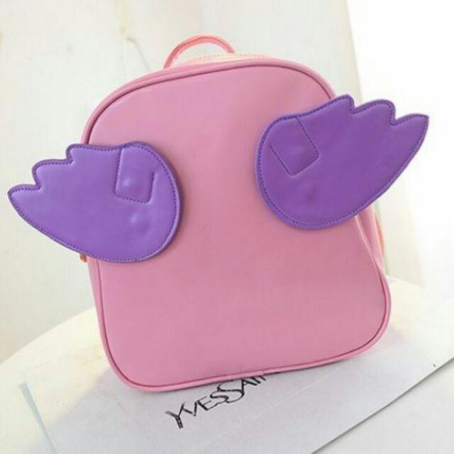棠舖AA374 書包天使翅膀雙肩背包附翅膀粉紅色款 2 個