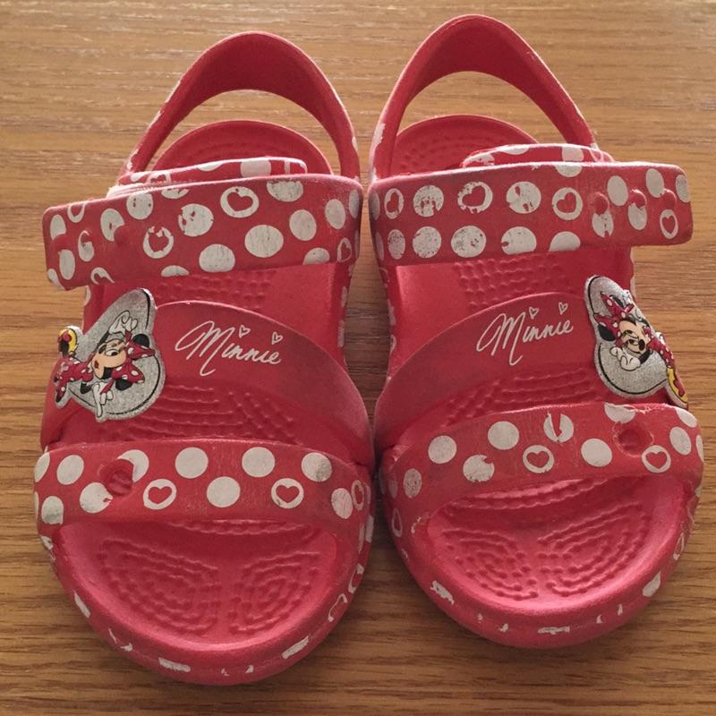 正小朋友米妮crocs 涼鞋