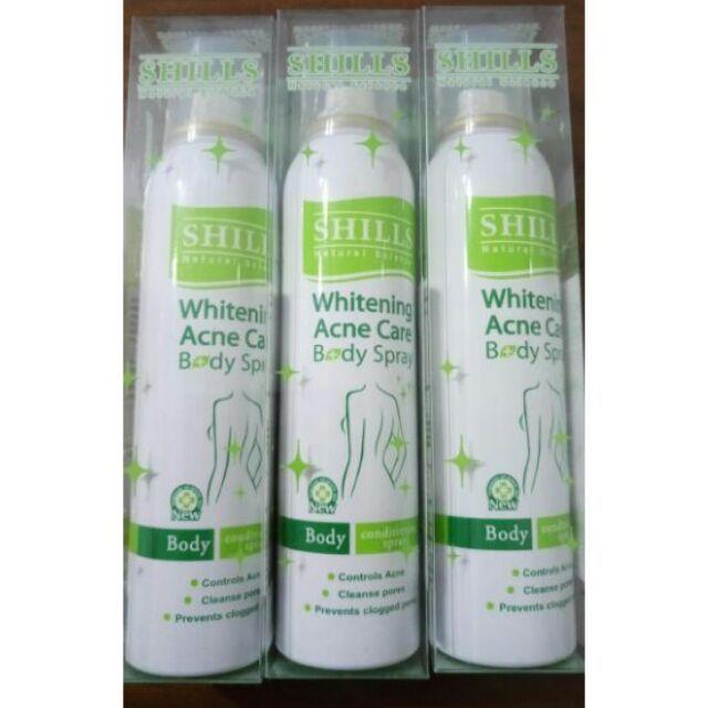 SHILLS 舒兒絲還白皙抗菌美背噴霧180ml 大容量很耐曬救星抗菌粉刺出油出汗角質