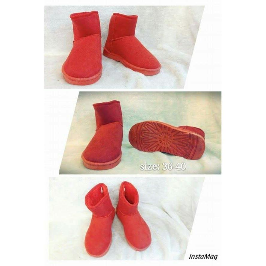 雪靴 款紅色
