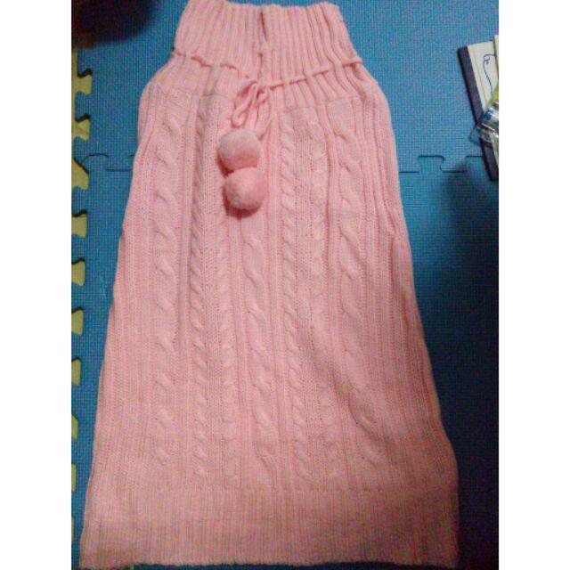 毛線長版連衣裙