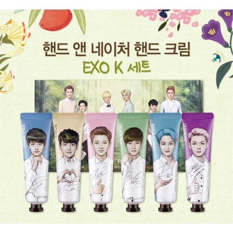 韓國Nature Republic EXO 版香氛護手霜30ml 6 條K 隊 M 隊