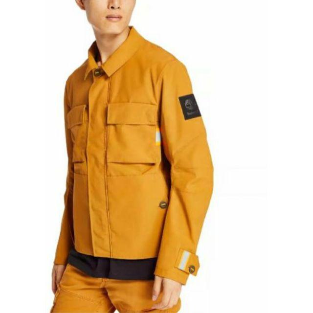 Timberland 男款小麥黃軍風反光帶外套|A29VPP47