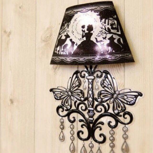 迪士尼童話聲控震動壁燈貼LED 燈(全4 種愛麗絲夢遊仙境小美人魚白雪公主灰姑娘