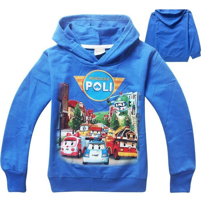 POLI 救援小隊波力羅伊安寶小汽車車子嬰幼兒童長袖休閒連帽 衣服棉T 上衣安安 城