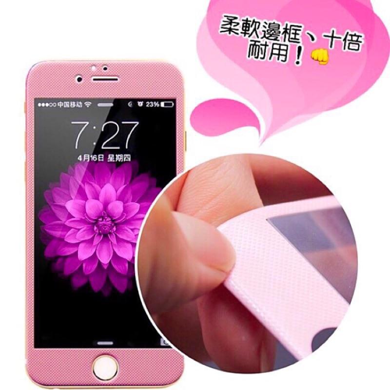 iPhone 6 6s plus 3D 碳纖維鋼化玻璃膜(滿版:白色菱格)129 元(玫瑰