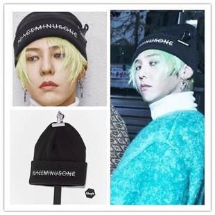 Bigbang 權志龍GD FXXK IT MV 同款英文字母黑色針織帽男女情侶款