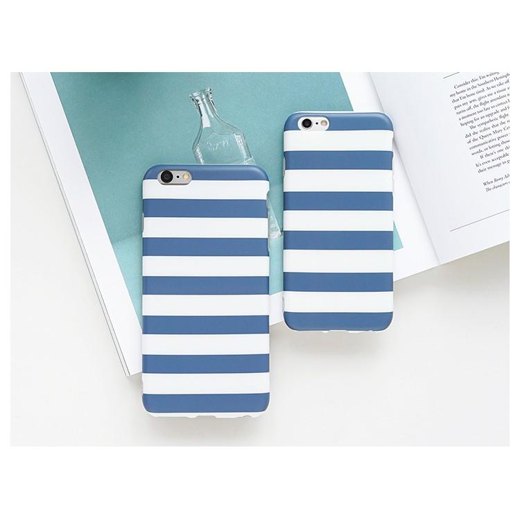 ~送鋼化膜~iPhone6 手機殼蘋果6plus 保護殼簡約條紋磨砂半包硬殼