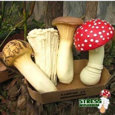 發洩減壓蘑菇杏包菇金針菇松茸 搞怪擠壓蘑菇玩具白領族最愛4 款