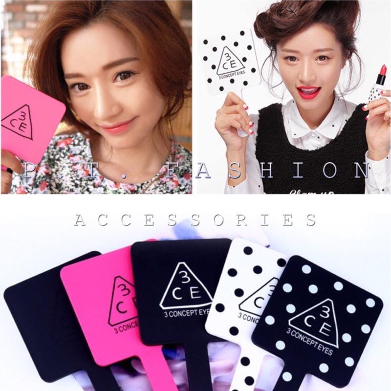 P T Fashion 韓國stylenand 3ce 大號方形化妝鏡手拿鏡隨身鏡便携式手
