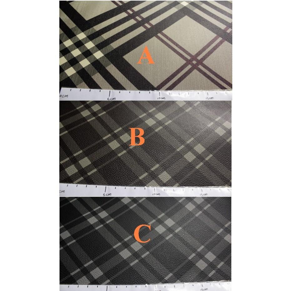 工廠 PVC 皮革蘇格蘭格紋1 半碼2 一碼