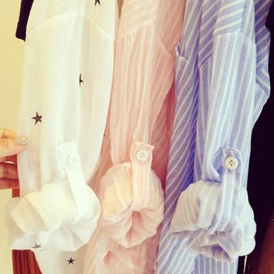款顯瘦薄款簡約長袖襯衫防曬外套中長款防曬衣襯衫3 色