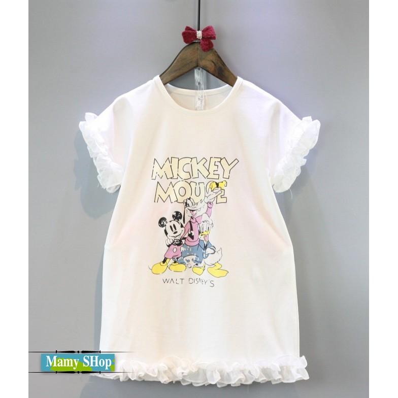 女童 卡通蕾絲花邊短袖洋裝