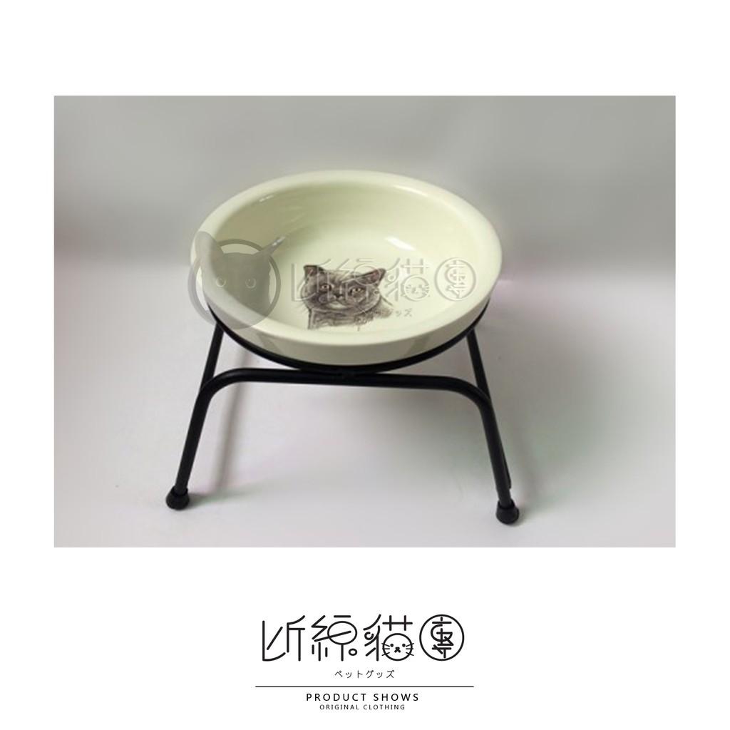 英國短毛貓精緻寵物碗狗碗犬用貓咪碗貓用陶瓷碗保護頸椎單雙碗架