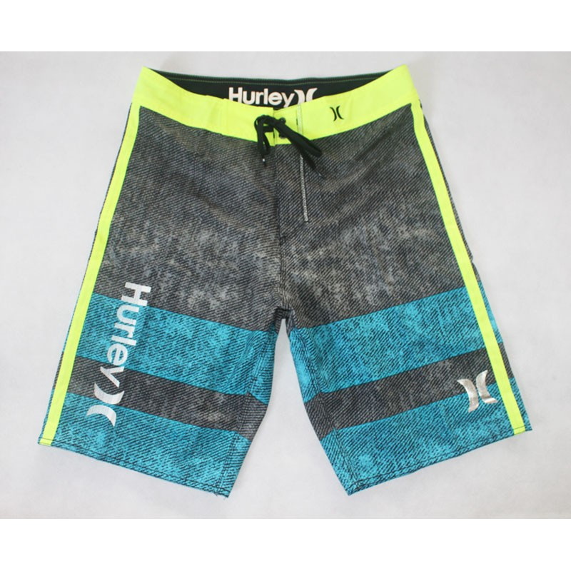 Hurley 水洗風灰藍拼接速乾衝浪褲B4