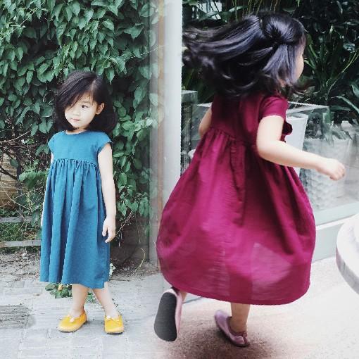 ~五碼專區~女童夏裝裙子小女孩喜愛的連衣裙兒童寶寶蓬蓬裙寬松 公主裙