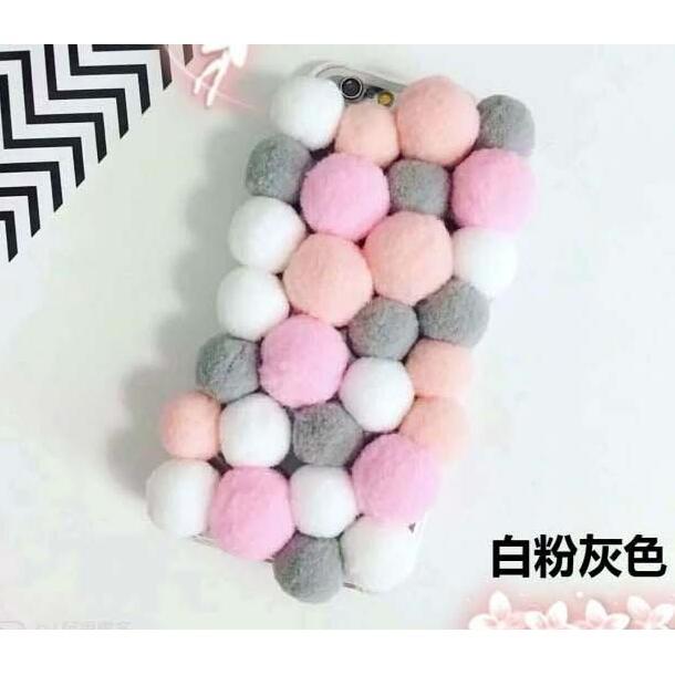 iPhone 6 6S Plus 韓國 彩球保護套毛毛球彩色球漸變色球矽膠軟殼全包款手機殼
