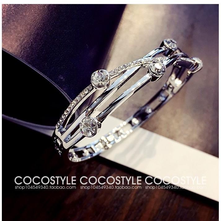 日韓簡約華麗年華交織水晶珍珠 甜美飾品手鐲手環