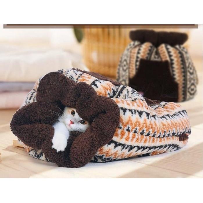 ~Herpets 荷蓓寵物~保暖貓睡袋溫暖手抱袋貓窩貓咪 窩暖冬手抱袋喵星人最愛