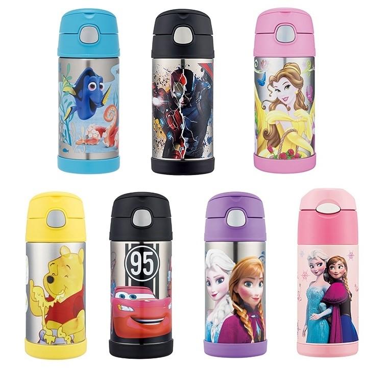 (靜)10 款膳魔師兒童不銹鋼真空保冷瓶保溫杯 貨冰雪奇緣迪士尼公主維尼汽車總動員麥昆