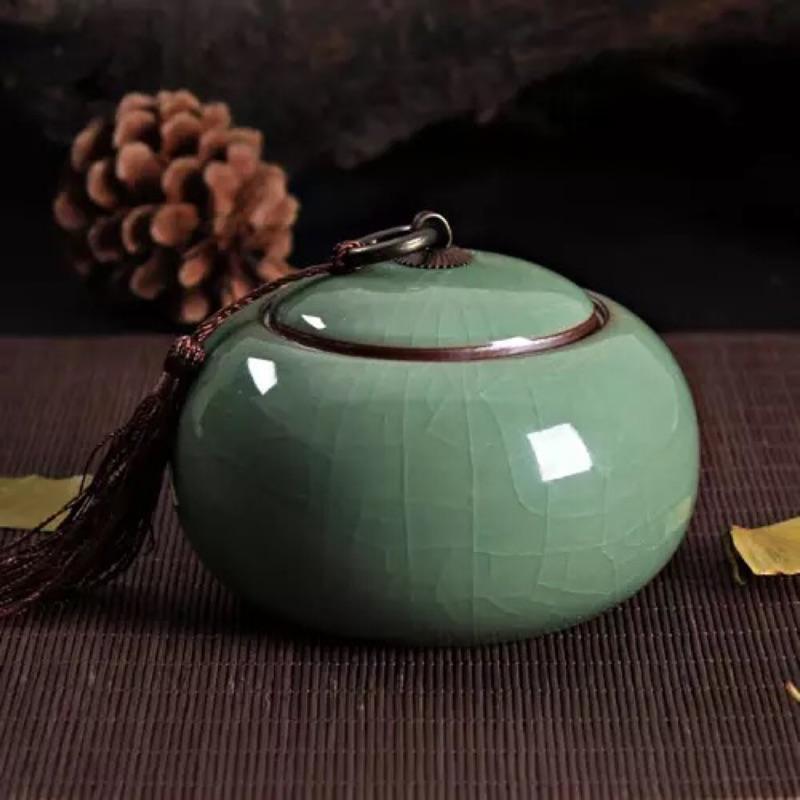 正品龍泉青瓷~陶瓷器茶道茶葉罐~密封儲存茶具