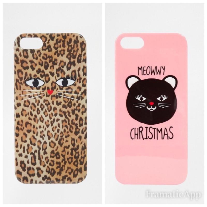 [低於成本 價]英國品牌愛心鼻子豹紋貓咪粉嫩甜心喵星人iPhone5s i5 保護殼手機殼