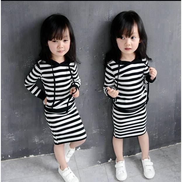 橫條長板親子洋裝(A2 G207