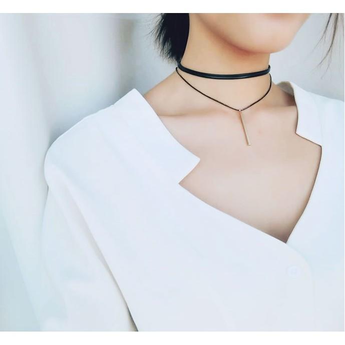 項鍊頸鍊✨韓系氣質 雙層墜子頸鍊項圈✨