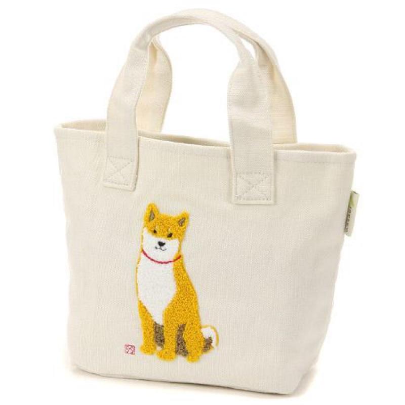 梨菓日貨柴犬圖案短柄手提包便當袋796 177