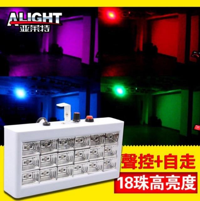 舞台爆閃18 顆LED 全彩激光燈聲控自走雙模式 KTV 酒吧舞廳私人招待所氣氛燈by 我