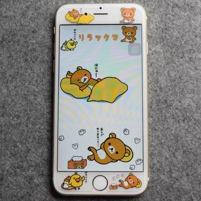 iphone 6 iphohe6s 鋼化玻璃貼拉拉熊鋼化玻璃貼~非全屏~圖案浮雕