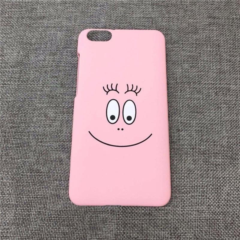)粉紅泡泡先生手機殼韓國卡通磨砂粉色笑臉iphone6 6s 手機殼蘋果plus 硬殼保護