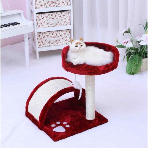 ►OS 屋貓咪 拱橋貓跳台爬架下層貓貓休息拱橋貓遊樂玩具貓跳台貓柱貓架貓爬架貓樹