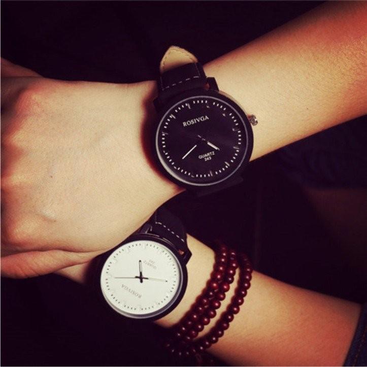 磨砂皮帶潮表原宿風男女情侶手錶陳冠希潮流學生錶高 大錶面素色款簡約素雅有