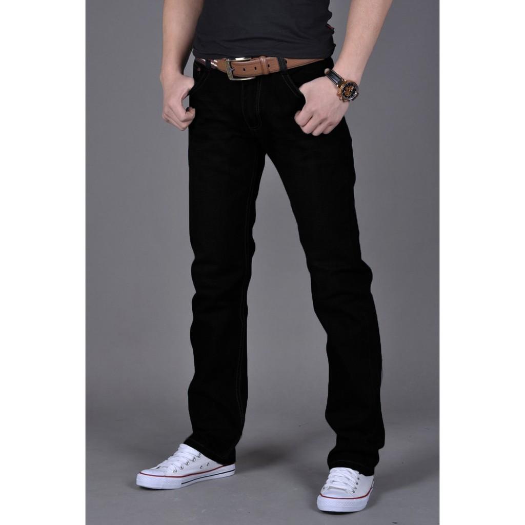 百搭男士立體修身剪裁休閒直筒 丹寧牛仔褲lbl 508