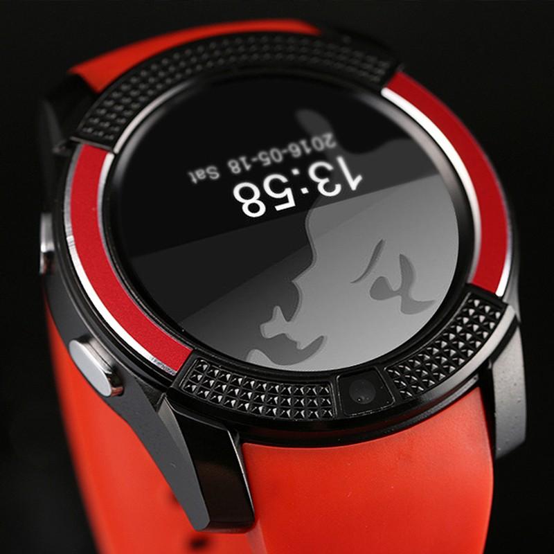 V8 智能手錶藍牙同步1 22 英吋全園IPS 屏幕插卡通話計步器久坐提醒防丟遠程拍照睡眠