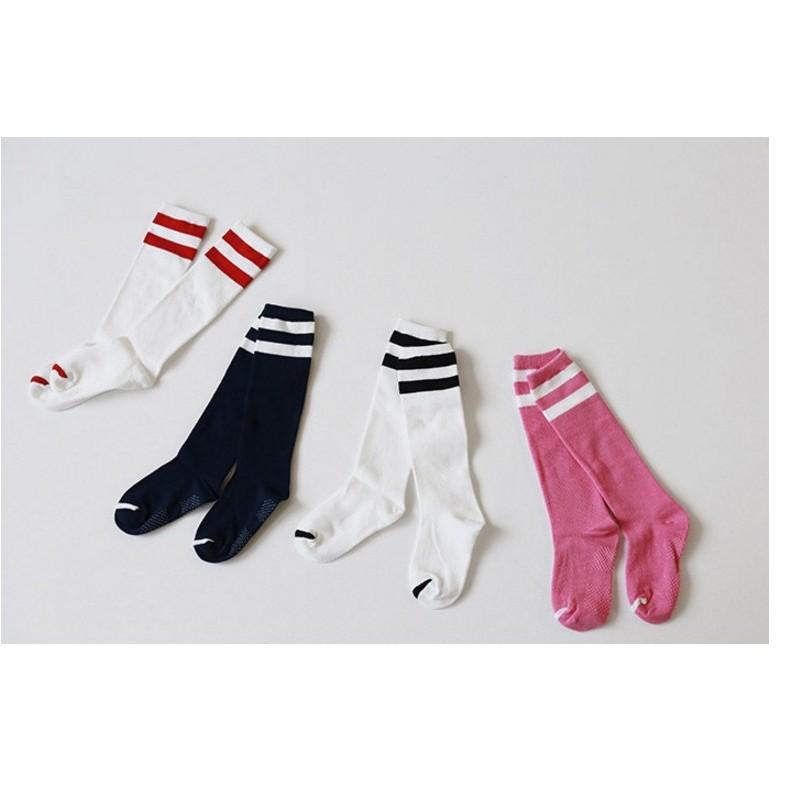 風格春夏韓國條紋襪男女兒童中性風格街頭潮款純棉中筒襪