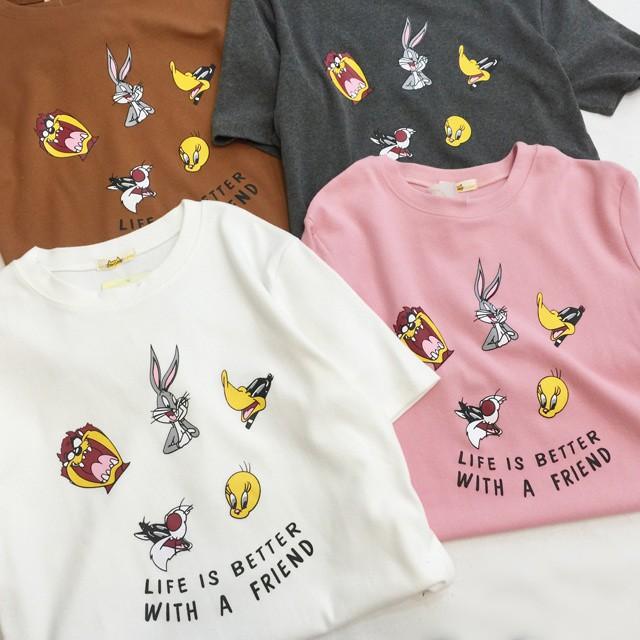 百搭T 恤麋鹿花圍花圈兔寶寶黑白條紋上衣短袖女裝