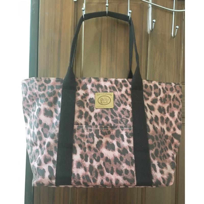 防水媽媽包旅行包粉紅豹紋