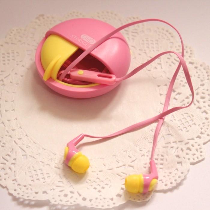 DIID 韓國 糖果色收納盒入耳式手機耳機迷你帶麥可愛女生