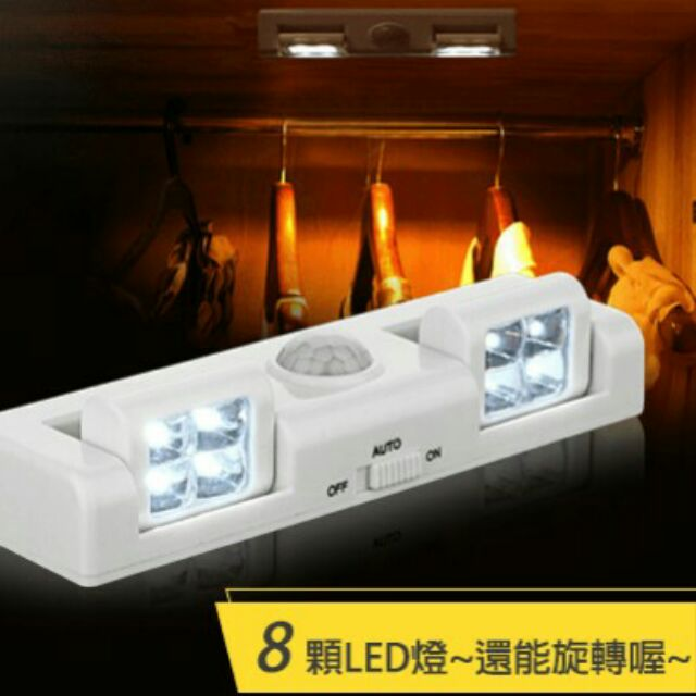 旋轉式高亮度LED 感應燈白光