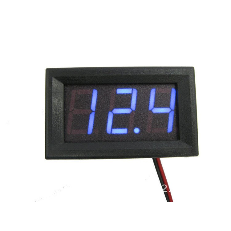 高亮度電光藍LED 電壓表DC 直流電壓錶汽車重機重型機車電動車摩托車點煙座改裝車電瓶電池