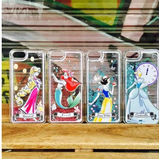 iphone7 iphone6 亮粉流沙手機殼❤️迪士尼公主灰姑娘美人魚白雪公主長髮公主手