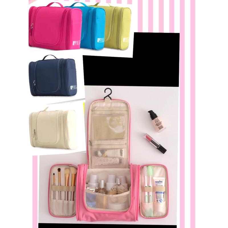 出差出國旅行出遊外宿防水化妝包隨身攜帶方便旅遊用品大容量懸掛式洗漱包