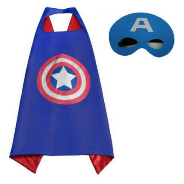 森林小熊有 ~美國隊長蝙蝠俠鋼鐵人蜘蛛人超人兒童斗篷披肩披風萬聖節聖誕節裝扮生日宴會趴踢漫