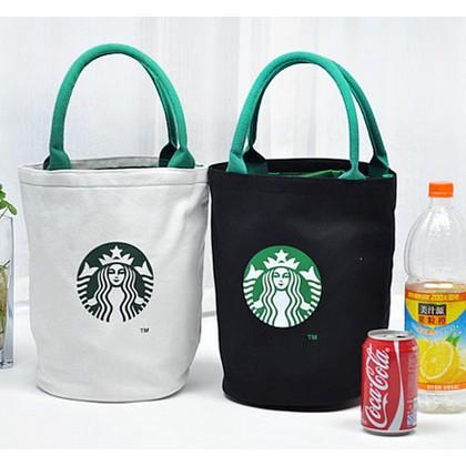 ~白棕卡其~無吊飾, Starbucks 星巴克咖啡帆布包圓筒包圓桶包托特包手提包單肩側背